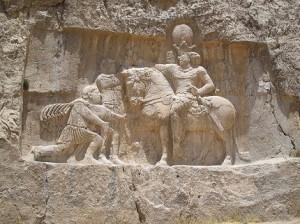 نبرد ادسا، کتیبه شاپور یکم در نقش رستم