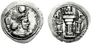 سکه های ساسانی-بهرام چهارم
