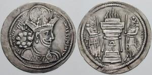سکه های ساسانی-شاپور اول