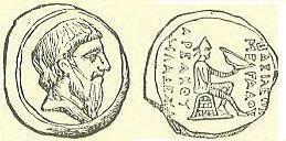 سکه های اشکانی-سکه فرهاد یکم