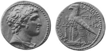 سکه های سلوکیان-سکه الکساندر بالاس