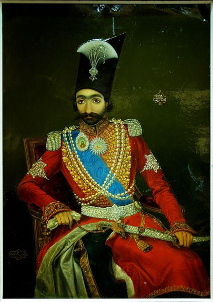 تابلو ناصر الدین شاه در جوانی در موزه لوور