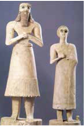 تندیس از جنس سنگ مرمر، ابو و همسرش