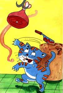 گربه دستش به گوشت نمی رسید می گفت بو می ده